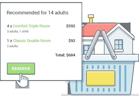 Reserva de múltiples alojamientos